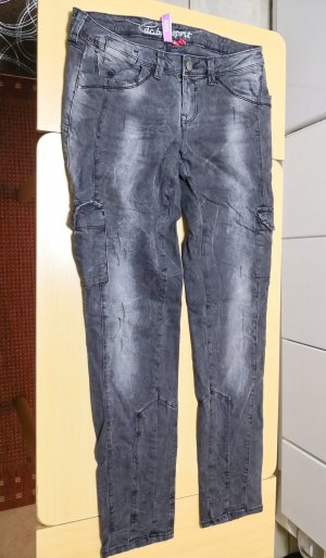 EDC Esprit Cargo Jeans Used Look grau 40 regular