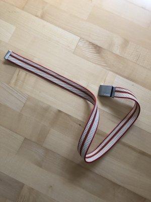 Edc Esprit Cinturón de tela blanco-rojo
