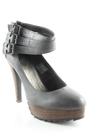 Edc Esprit High Heels anthrazit-graubraun Casual-Look