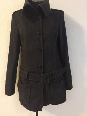 Edc Esprit Short Coat dark grey wool