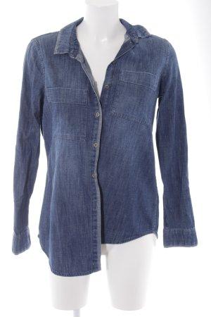 Edc Esprit Jeansbluse blau Casual-Look