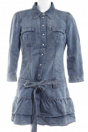 Edc Esprit Jeanskleid blassblau-dunkelblau Country-Look