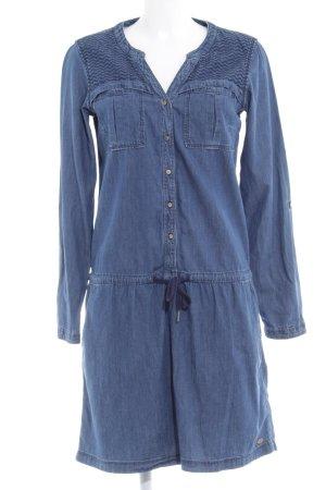 Edc Esprit Robe en jean gris ardoise-bleu pâle style simple
