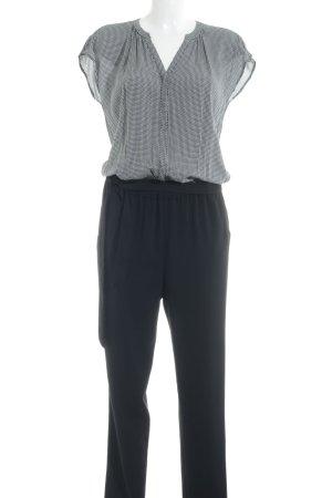 Edc Esprit Jumpsuit schwarz-weiß abstraktes Muster Business-Look