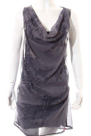 Edc Esprit Kleid grau-dunkelblau Casual-Look