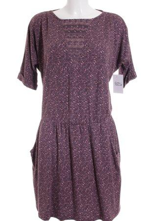 Edc Esprit Kleid grauviolett-graulila florales Muster Casual-Look