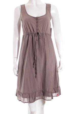 Edc Esprit Kleid hellbraun klassischer Stil