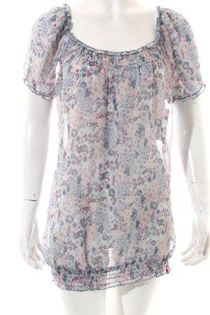 Edc Esprit Kurzarm-Bluse florales Muster Casual-Look