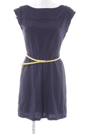 Edc Esprit Kurzarmkleid blassgelb-dunkelblau Elegant