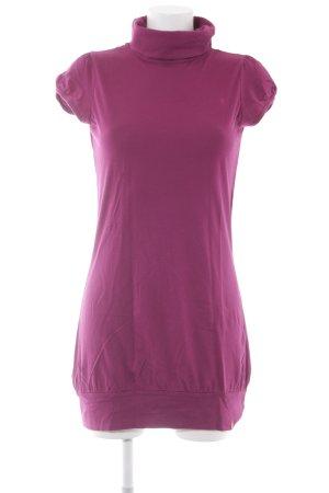 Edc Esprit Kurzarmkleid violett schlichter Stil