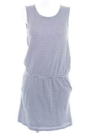 Edc Esprit Kurzarmkleid wollweiß-dunkelblau Streifenmuster Beach-Look