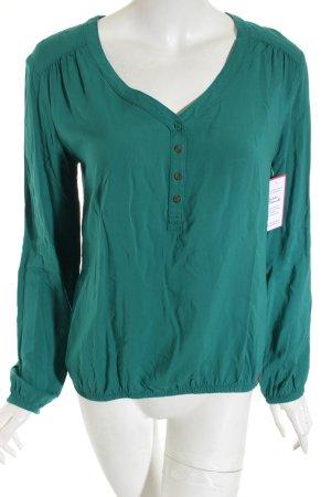 Edc Esprit Langarm-Bluse grün Casual-Look