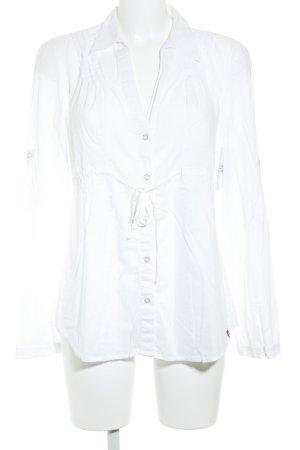 Edc Esprit Langarm-Bluse weiß Casual-Look