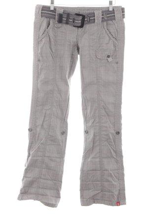 Edc Esprit Pantalone Marlene grigio chiaro stampa integrale stile casual