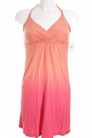 Edc Esprit Halter Dress light orange-bright red color gradient beach look