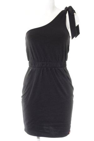 Edc Esprit Vestido de un hombro negro look casual