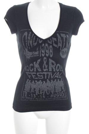 Edc Esprit Print-Shirt schwarz Motivdruck Casual-Look