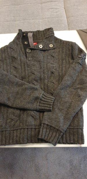 edc Jersey de lana gris antracita