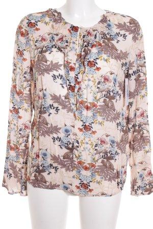 Edc Esprit Rüschen-Bluse florales Muster Romantik-Look