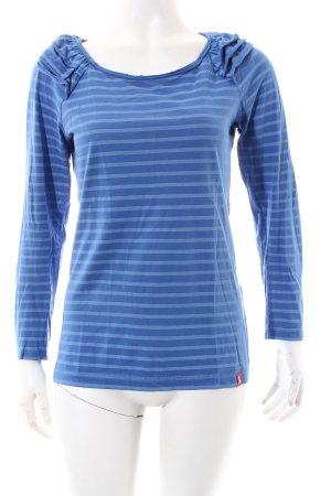 Edc Esprit Shirt blau-himmelblau Streifenmuster Casual-Look