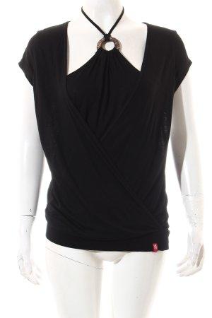 Edc Esprit Shirt schwarz Beach-Look