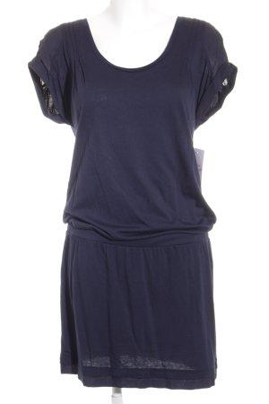 Edc Esprit Shirtkleid dunkelblau schlichter Stil