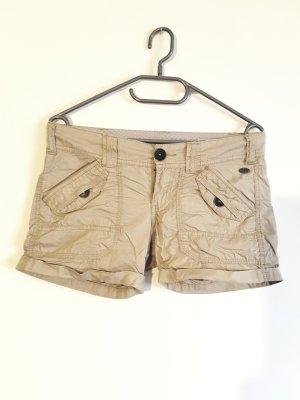 EDC Esprit Shorts Größe 32 beige sandfarben Crinkle Effekt