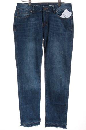 Edc Esprit Skinny Jeans blau-wollweiß Washed-Optik