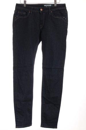 Edc Esprit Skinny Jeans dunkelblau-beige Casual-Look