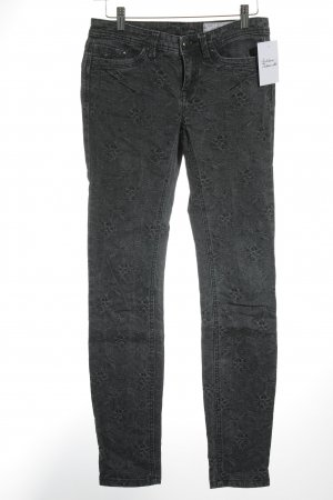 Edc Esprit Skinny Jeans grau Blumenmuster Casual-Look