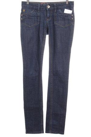 Edc Esprit Slim Jeans dunkelblau Street-Fashion-Look