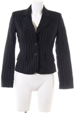 Edc Esprit Blazer de esmoquin negro estampado a rayas estilo «business»