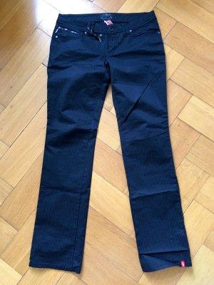 edc Esprit Stoffhose in Streifenoptik, schwarz, Größe 38