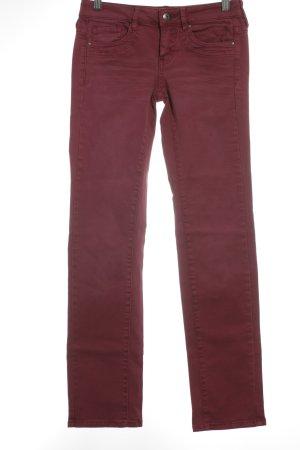 Edc Esprit Straight-Leg Jeans dunkelrot Casual-Look