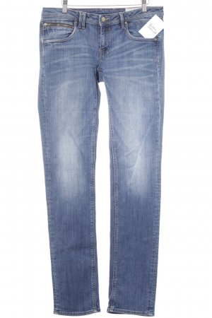 Edc Esprit Straight-Leg Jeans stahlblau-wollweiß meliert Casual-Look