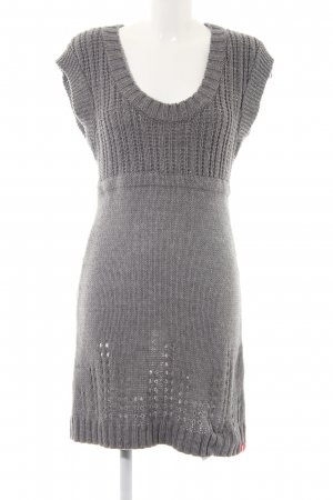 Edc Esprit Knitted Dress dark grey cable stitch casual look