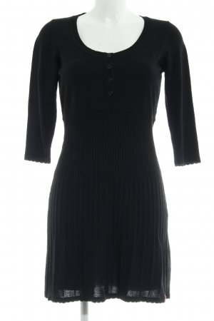 Edc Esprit Knitted Dress black elegant