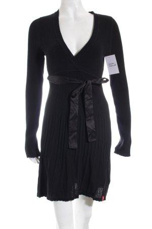 Edc Esprit Strickkleid schwarz schlichter Stil