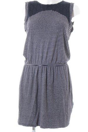 Edc Esprit Strickkleid weiß-blau Streifenmuster schlichter Stil