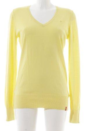 Edc Esprit Strickpullover gelb klassischer Stil