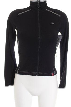 Edc Esprit Sweatjacke weiß-schwarz Casual-Look