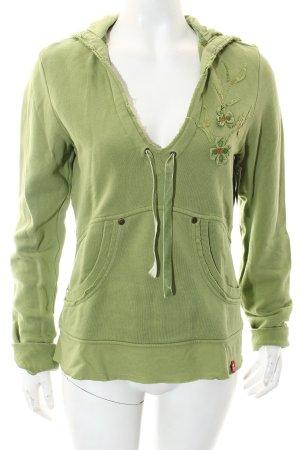 Edc Esprit Sweatshirt grün Casual-Look