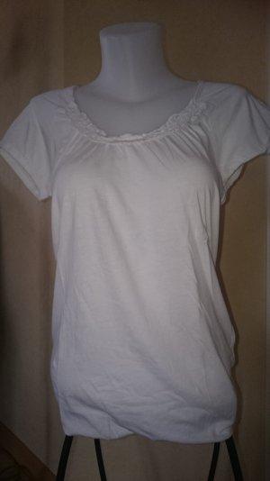 Edc / Esprit T-shirt mit Spitzen Gr M Weiß
