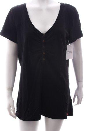 Edc Esprit T-Shirt schwarz Casual-Look
