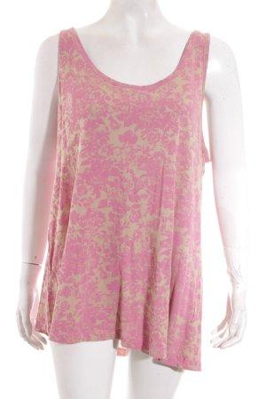 Edc Esprit Trägertop rosa-grüngrau florales Muster Casual-Look
