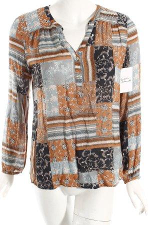 Edc Esprit Tunikabluse florales Muster 70ies-Stil