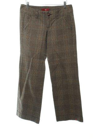 Edc Esprit Wollen broek geruite print klassieke stijl
