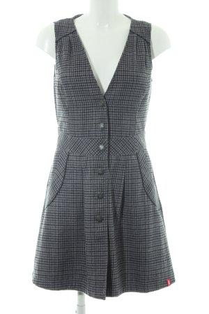 Edc Esprit Vestido de lana estampado a cuadros estilo clásico