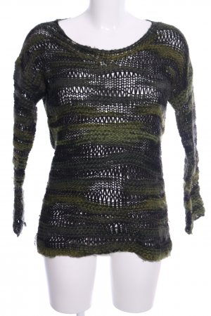 edc Coarse Knitted Sweater khaki casual look