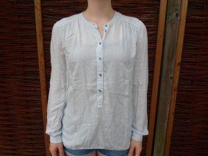 edc - Hellblaue Bluse mit langen Armen